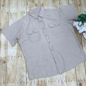Carhartt Khaki Button Up Short Sleeve Men's Shirt